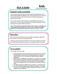 DLA Support Leaflet